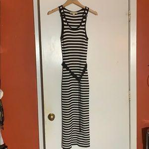 Striped Maxi Dress Michael Kors